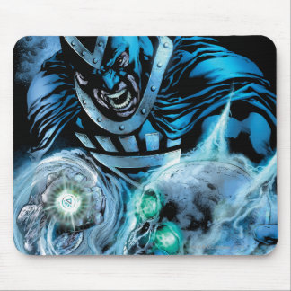 Black Hand with Skull Panel Mouse Pad
