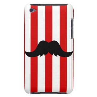 Black Handlebar Mustache w/Barber Shop Pole iPod Case-Mate Cases