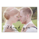 Black Handwritten Script Wedding Thank You Card