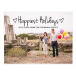 Black Happiest Holidays Photo Postcard