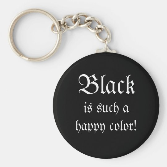 Black Happy Colour Morticia Addams Keychain