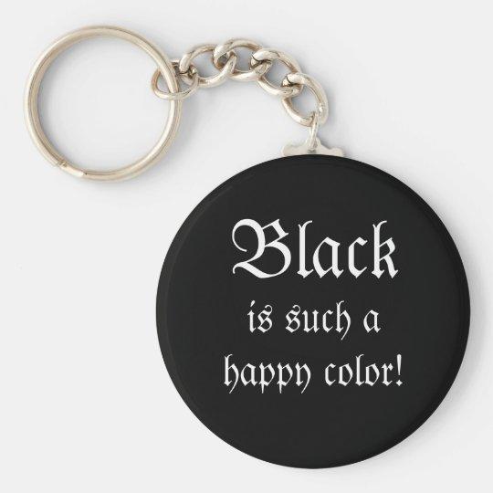Black Happy Colour Morticia Addams Keychain