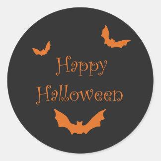 Black Happy Halloween Stickers
