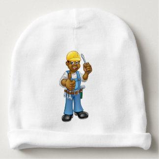 Black Hard Hat Electrician Screwdriver Baby Beanie