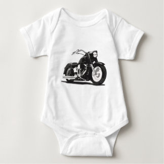 Black Harley motorcycle Baby Bodysuit