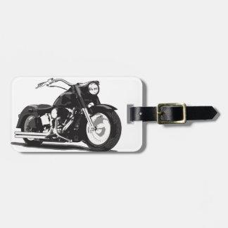 Black Harley motorcycle Bag Tag