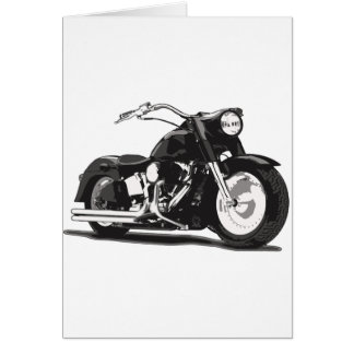 Black Harley motorcycle Card