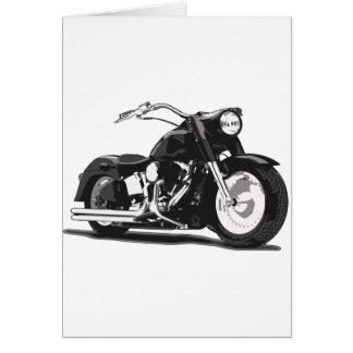 Black Harley motorcycle Greeting Card