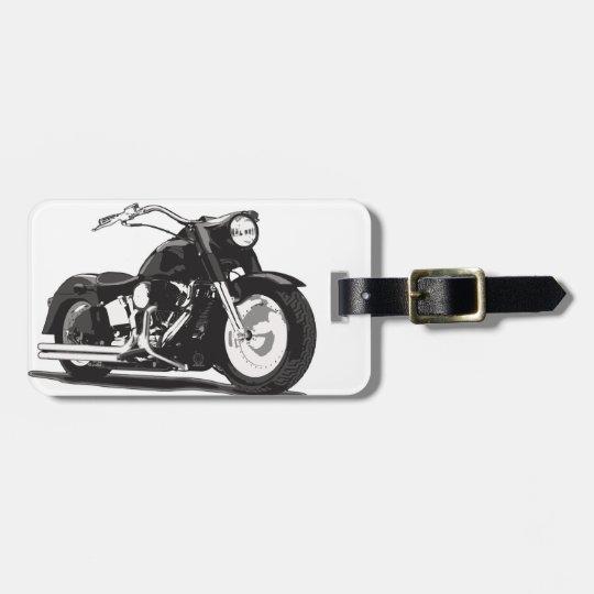 Black Harley motorcycle Luggage Tag