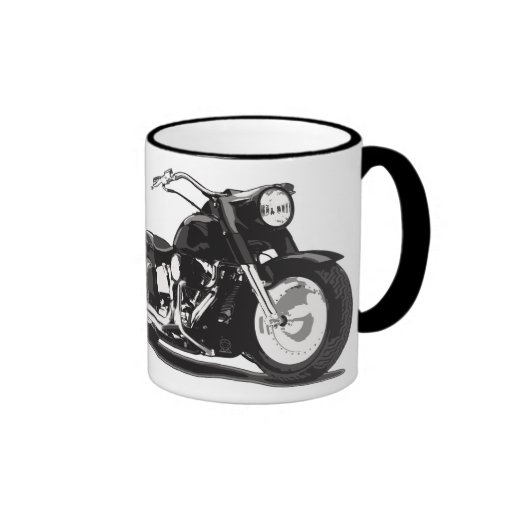 Black Harley motorcycle Mugs