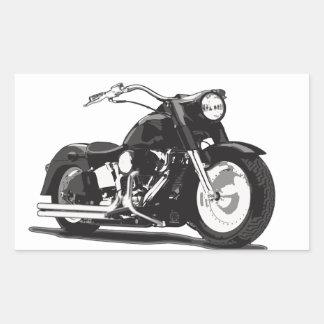 Black Harley motorcycle Rectangular Stickers