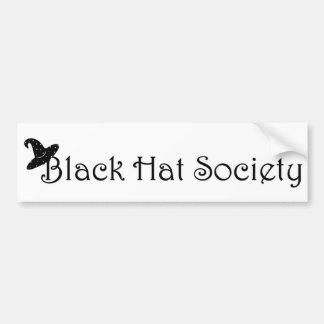 Black Hat Society Bumper Sticker