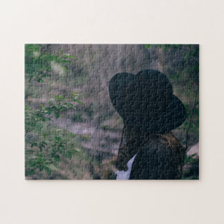 Black-Hatted Woman in the Woods Puzzle
