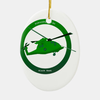 Black Hawk Christmas Ornament