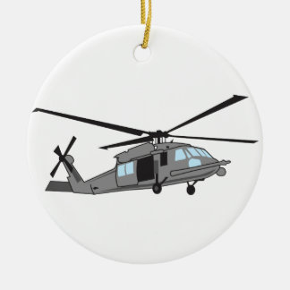Black Hawk Helicopter Christmas Ornament
