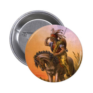 Black Hawk Native American Indian 6 Cm Round Badge