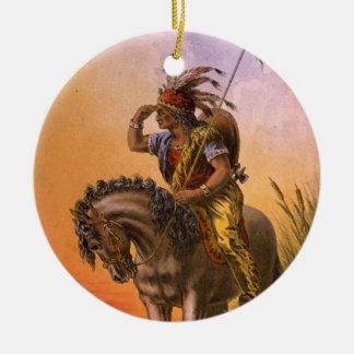 Black Hawk Native American Indian Christmas Ornament
