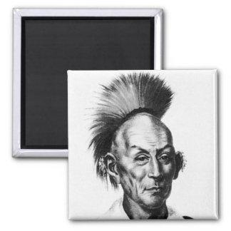 Black Hawk ~ Sac Sauk Indian Chief Fridge Magnets
