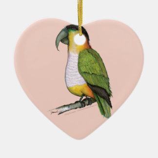 black headed parrot, tony fernandes.tif christmas ornament