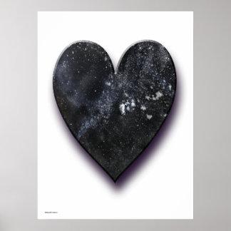 Black Heart Art Poster