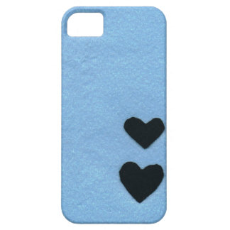 Black heart color of the sea area (felt wind) iPhone 5 covers