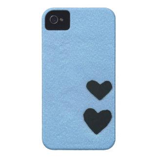 Black heart color of the sea area (felt wind) iPhone 4 covers