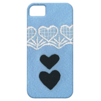 Black heart color of the sea area race/lace you at barely there iPhone 5 case