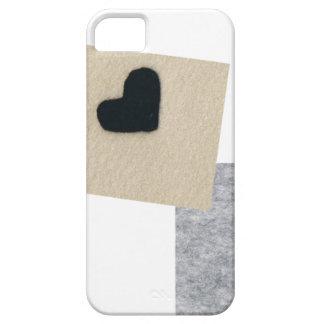 Black heart gurebejiyu area (felt wind) iPhone 5 covers
