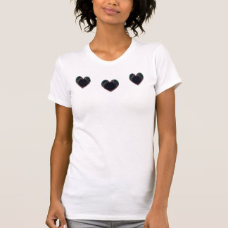 Black Heart Ladies Camisole T Shirts