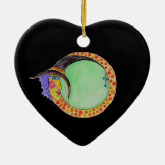 Black Heart Ornament Witch Moon Infinity Halloween