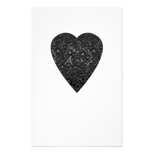 Black Heart. Patterned Heart Design. Custom Flyer