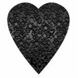 Black Heart. Patterned Heart Design. Photo Sculptures