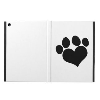 Black Heart Paw Print 2 iPad Air Case