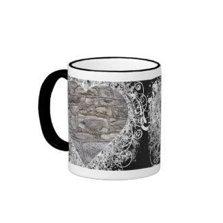 Black Heart Ringer Mug