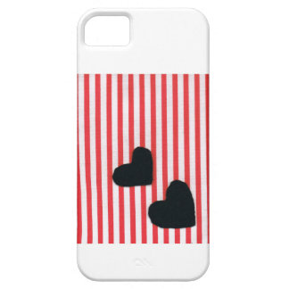 Black heart stripe (texture wind) iPhone 5 cover