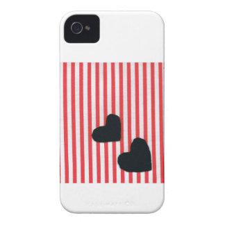 Black heart stripe (texture wind) iPhone 4 cases