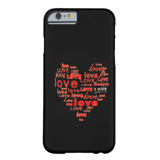 Black hearts and love iPhone 6 case Barely There iPhone 6 Case