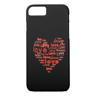 Black hearts and love iPhone 7 case