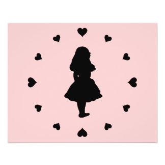 Black Hearts Around Alice 11.5 Cm X 14 Cm Flyer