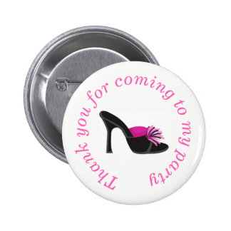 Black Heels Shoes 'Thank you for coming' 6 Cm Round Badge