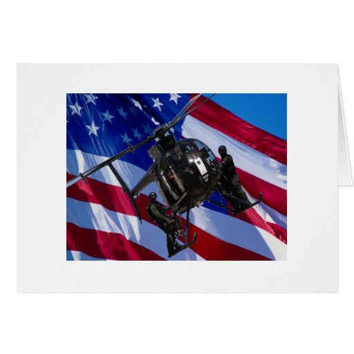 Black helicopter greeting card
