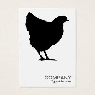 Black Hen Symbol 02 - White Business Card