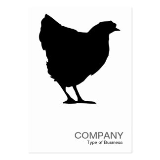 Black Hen Symbol 02 - White Pack Of Chubby Business Cards