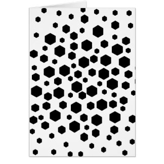 Black Hexagons Greeting Cards