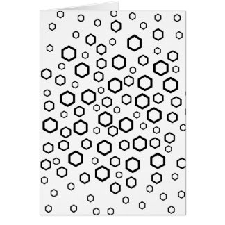 Black Hexagons. Pattern. Card
