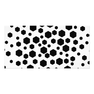 Black Hexagons. Custom Photo Card