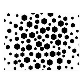 Black Hexagons. Postcard