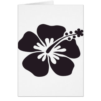 black hibiscus flower card