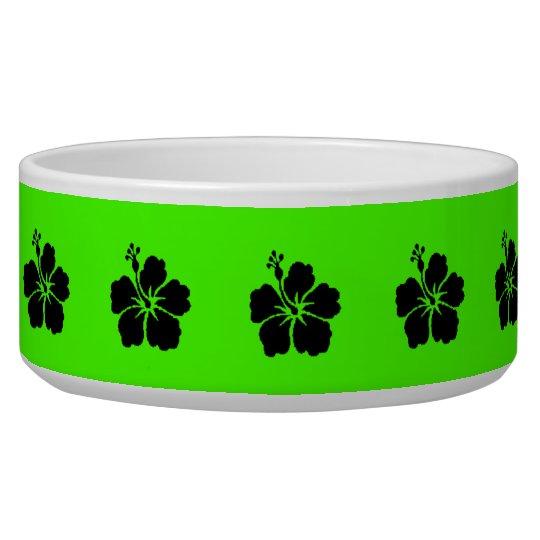 Black Hibiscus Neon Green