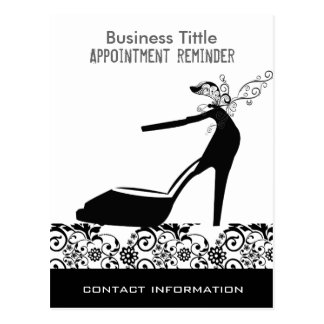Black High Heels Beauty Fashion Appointment Postcard